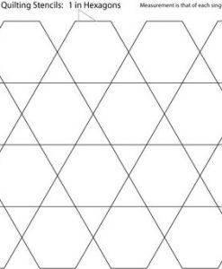 1 Inch Hexagon Quilting Stencil