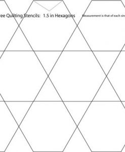 1.5 Inch Hexagon Quilting Stencil