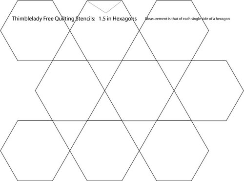1 5 inch hexagon quilting stencil for 1 5 inch hexagon template