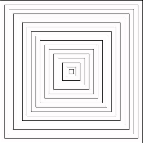 Quilting Templates Square : 1/2 Inch Square Quilting Stencil - Thimblelady
