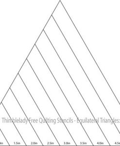 Triangle Quilting Stencils