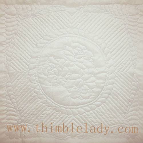 Free Easy Hand Quilting Patterns : Rose Pattern - Thimblelady
