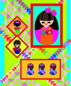 japanese dolls quilt pattern