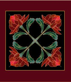 waratah applique pattern